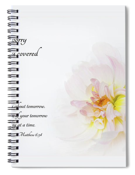 Don't Worry With Verse Spiral Notebook