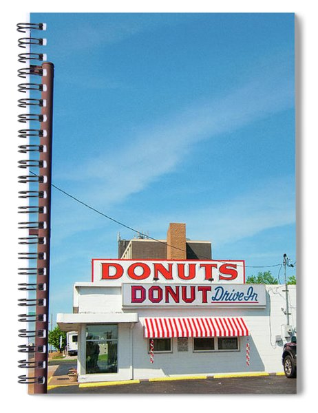 Donut Drive In Spiral Notebook