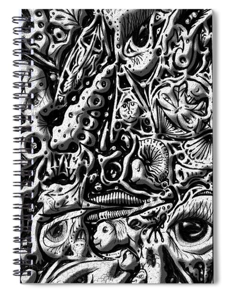 Doodle Emboss Spiral Notebook