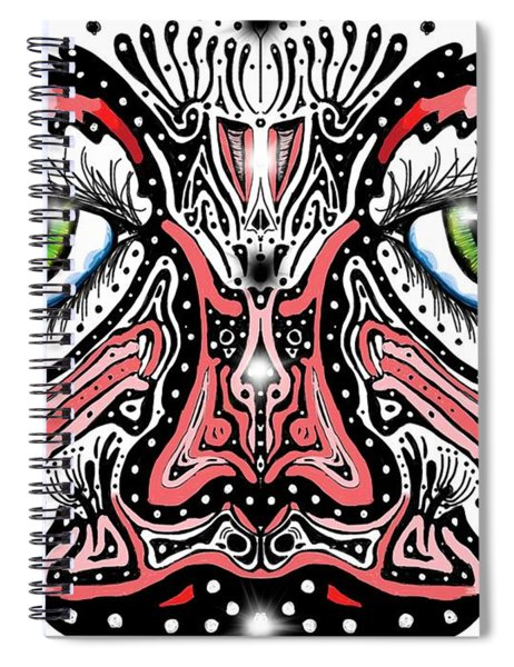 Doodle Face Spiral Notebook