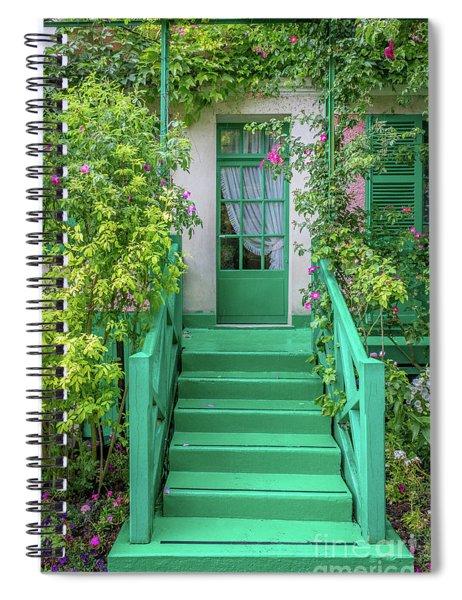 Door To Claude Monet's Home, Giverny 2 Spiral Notebook