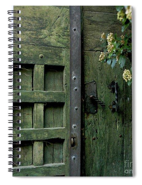 Door With Padlock Spiral Notebook
