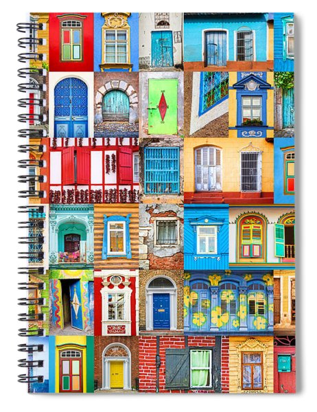 Doors And Windows Of The World Spiral Notebook