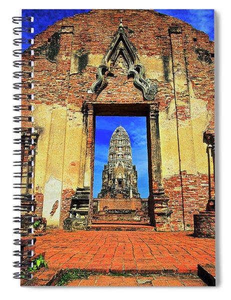 Doorway To Wat Ratburana In Ayutthaya, Thailand Spiral Notebook