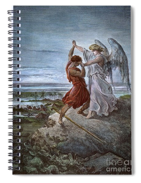 Jacob And The Angel Spiral Notebook