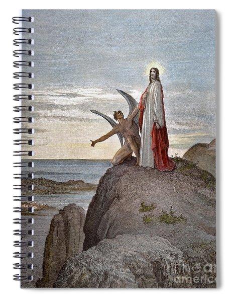 Temptation Of Jesus Spiral Notebook