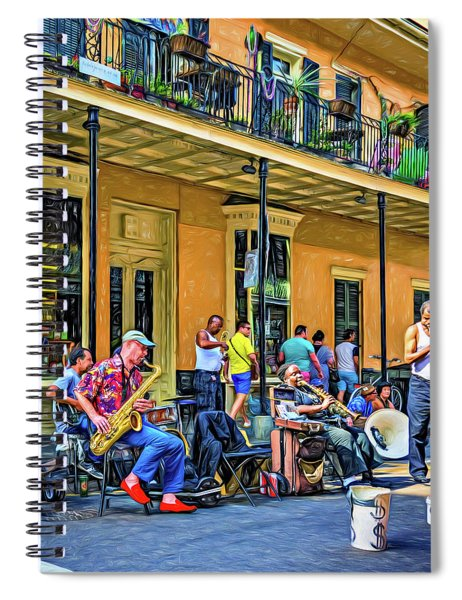Doreen's Jazz New Orleans 2 - Paint Spiral Notebook