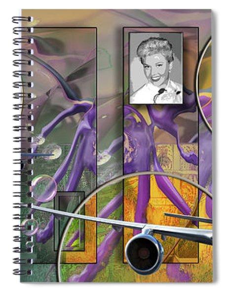 Doris Flies Spiral Notebook