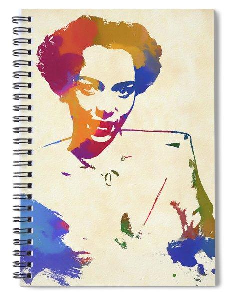Dorothy Dandridge Watercolor Spiral Notebook