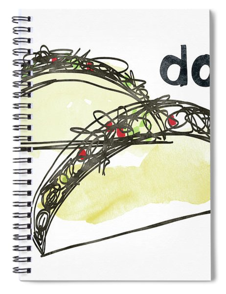 Dos Tacos- Art By Linda Woods Spiral Notebook