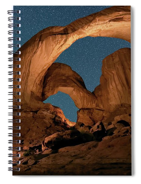 Double Arch And The Milky Way - Arches National Park - Moab, Utah By Olena Art - Brand  Spiral Notebook