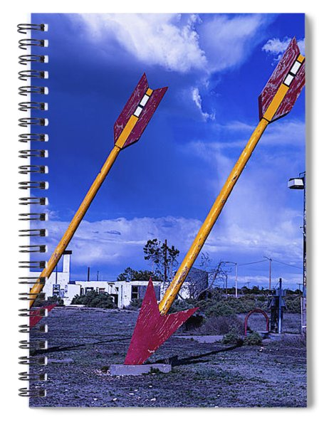 Double Arrows Spiral Notebook