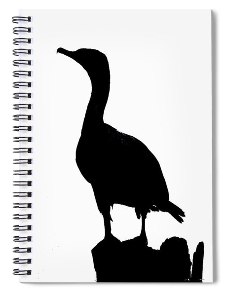 Double-crested Cormorant Silhouette Spiral Notebook