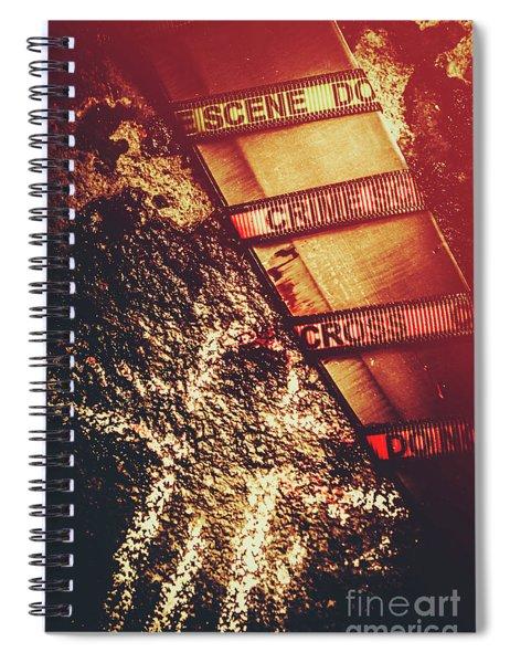 Double Crossing Crime Scene Investigation Spiral Notebook