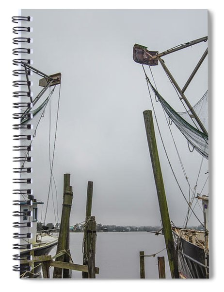 Double Fishing Boats Spiral Notebook