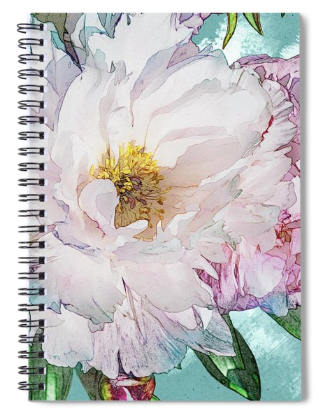 Double Peony Spiral Notebook