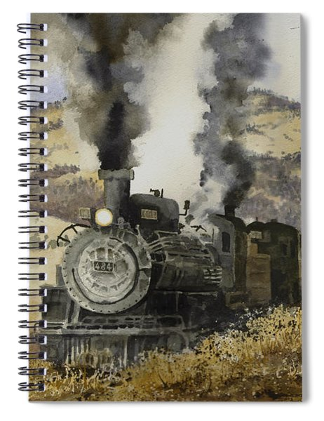 Double Teamin To Cumbres Pass Spiral Notebook