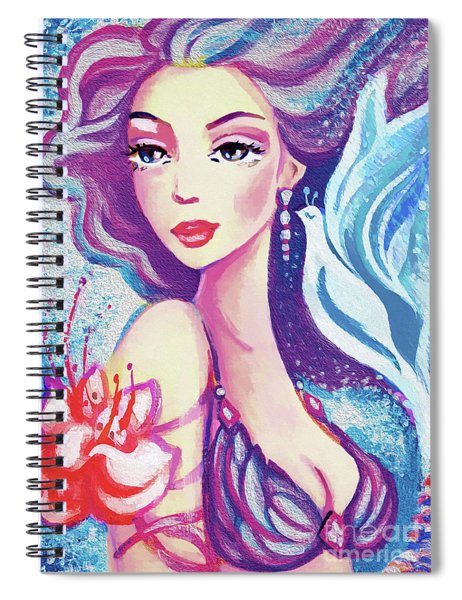 Dove Mermaid Spiral Notebook