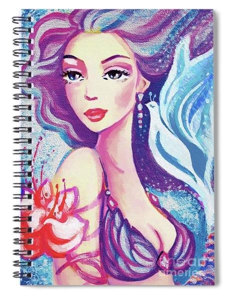 Dove Mermaid Spiral Notebook