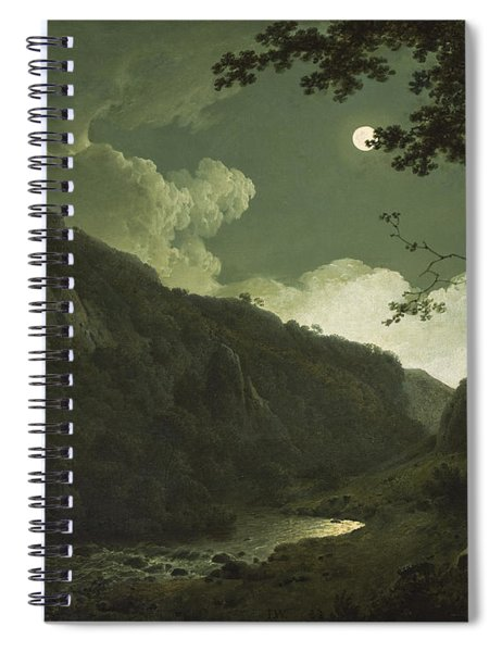 Dovedale By Moonlight Spiral Notebook