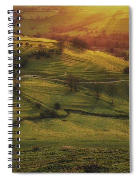 Dovedale Sunset 2 Spiral Notebook