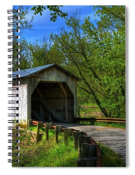 Spiral Notebook featuring the photograph Dover Covered Bridge by Mel Steinhauer