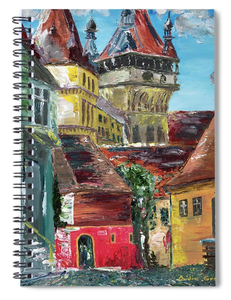 Down The Street Spiral Notebook