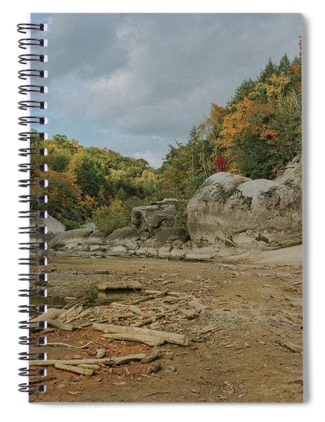 Downstream From Cumberland Falls Spiral Notebook