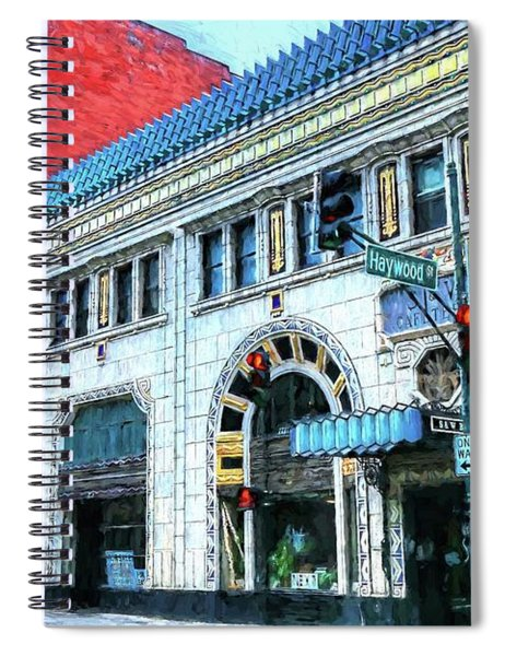 Downtown Asheville City Street Scene Painted  Spiral Notebook