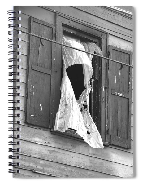 Spiral Notebook featuring the photograph Downtown Columbus Bw1925 by Brian Gryphon