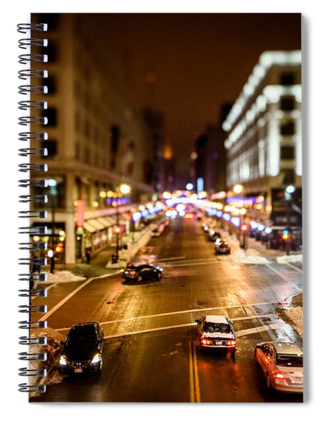 Downtown In The Itty-bitty City Spiral Notebook
