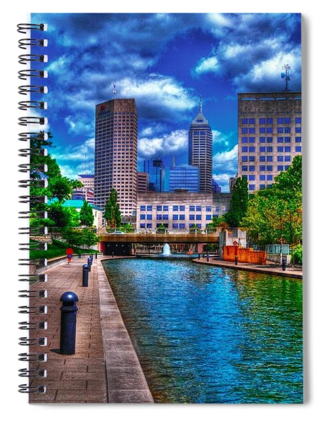 Downtown Indianapolis Canal Spiral Notebook