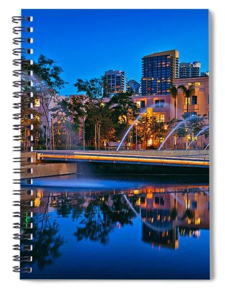 Downtown San Diego Waterfront Park Spiral Notebook
