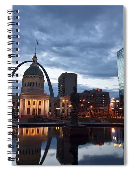 Downtown St. Louis At Dawn Spiral Notebook