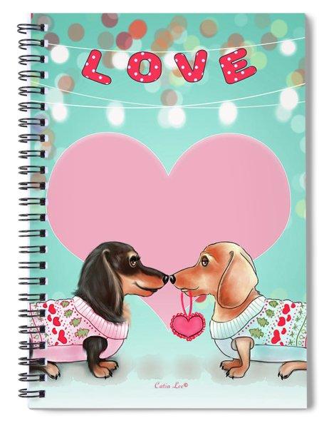 Doxie Valentine's Party Spiral Notebook
