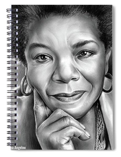 Dr Maya Angelou Spiral Notebook