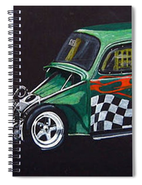Drag Racing Vw Spiral Notebook