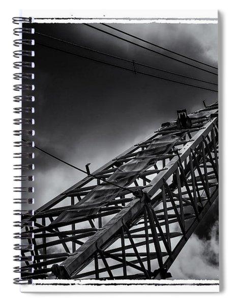 Dragline 553bw Spiral Notebook