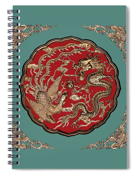 Dragon And Phoenix Spiral Notebook