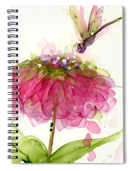 Dragonfly And Zinnia Spiral Notebook