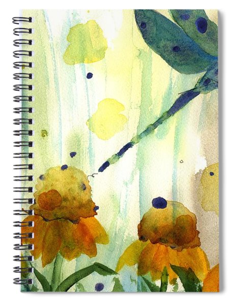 Dragonfly In The Wildflowers Spiral Notebook
