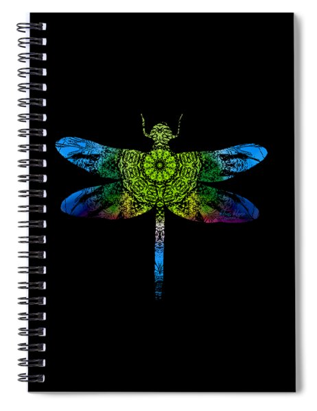 Dragonfly Kaleidoscope Spiral Notebook