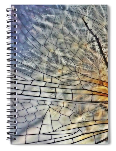 Dragonfly Wing Spiral Notebook
