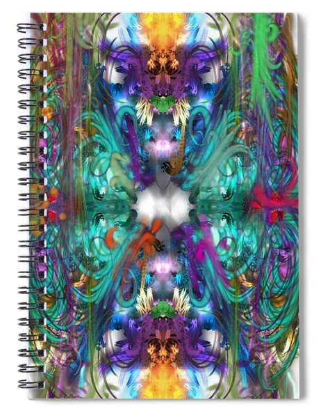 Dragons Of The Temple Spiral Notebook
