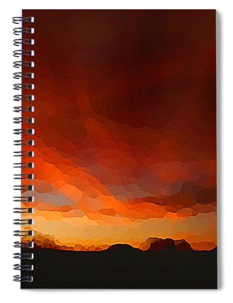 Drama At Sunrise Spiral Notebook