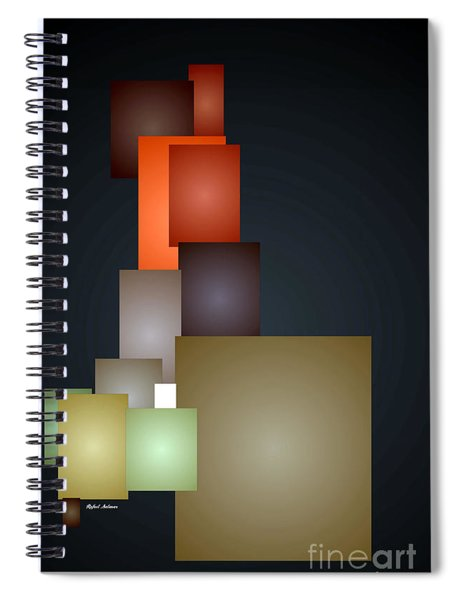 Dramatic Abstract Spiral Notebook