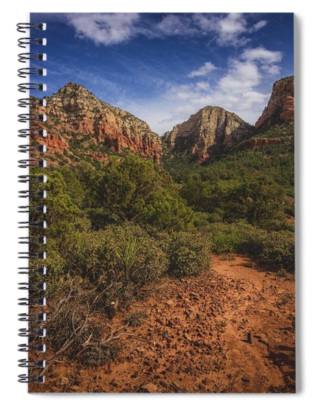 Dramatic Cloudscape Over Capitol Butte Spiral Notebook