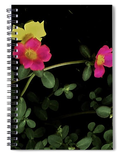 Dramatic Colorful Flowers Spiral Notebook