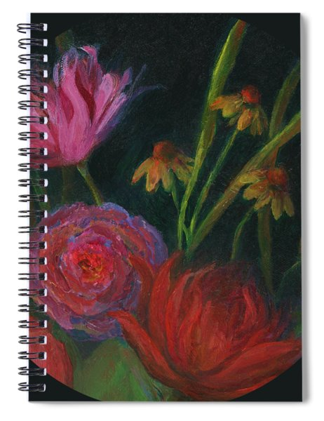 Dramatic Floral Still Life Painting Spiral Notebook