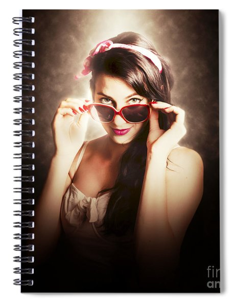 Dramatic Pin Up Fashion Photograph Spiral Notebook